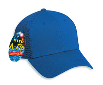 OTTO A-Flex cotton twill withstretchable polyester air mesh back solid color six panel low profile pro style cap