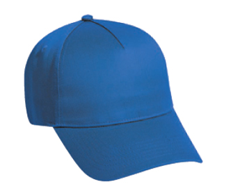 Cotton twill solid color five panel low profile pro style caps