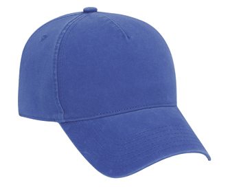 Ultra soft superior garment washed brushed cotton twill solid color five panel low profile pro style caps
