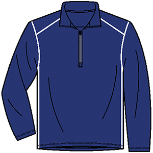 Page & Tuttle P91359 Men's Contrast Stitch Quarter Zip ...