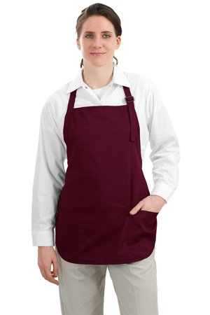 Port Authority® A510 Medium Length Apron with Pouch Pockets