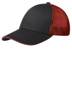 Port Authority® C818 Double Mesh Snapback Sandwich Bill Cap