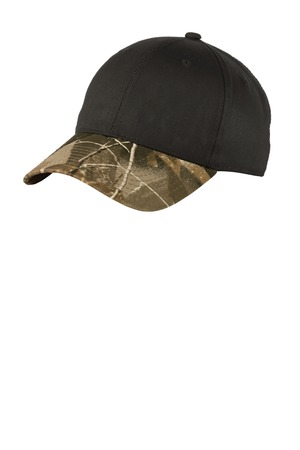 Port Authority® C931 - Twill Cap with Camouflage Brim