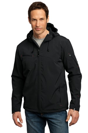 Port Authority® J706 Textured Hooded Soft Shell ...