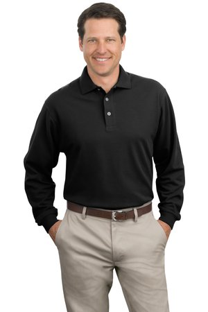 Port Authority® K320 Long Sleeve Pique Knit Polo