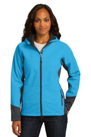 Port Authority® L319 - Ladies Vertical Hooded Soft Shell Jacket