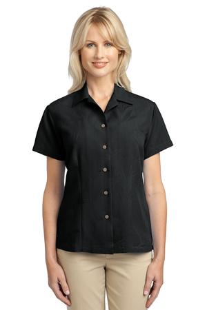 Port Authority® L536 Ladies Patterned Easy Care Camp Shirt