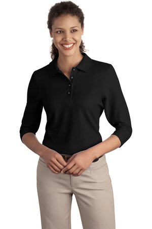 Port Authority® L562 Ladies Silk Touch™ 3/4-Sleeve Polo
