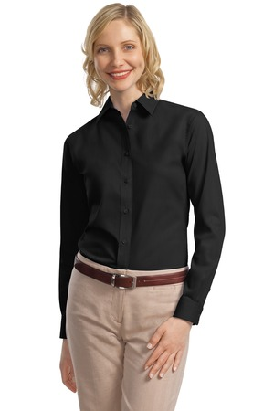 Port Authority® L632 Ladies Long Sleeve Value Poplin Shirt