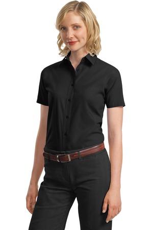 Port Authority® L633 Ladies Short Sleeve Value Poplin Shirt