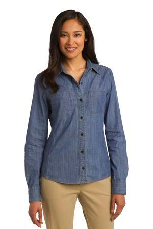 Port Authority® L652 - Ladies Denim Shirt with Patch Pockets