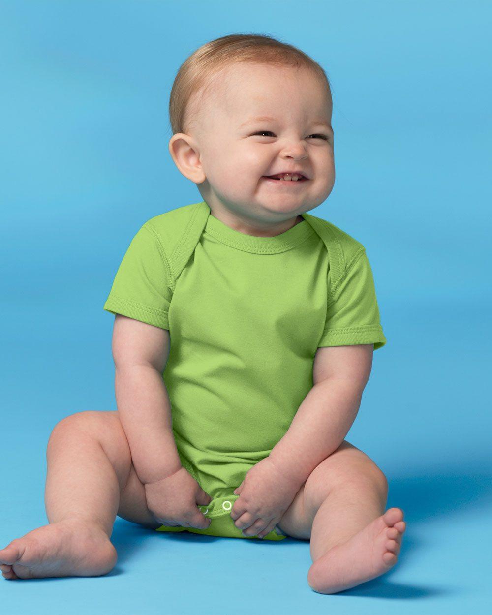 Rabbit Skins 4424 - Fine Jersey Infant Lap Shoulder ...