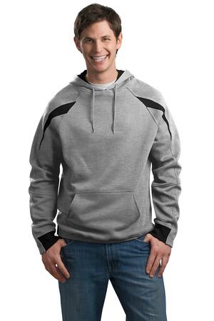 Sport-Tek® F266 Color-Spliced Pullover Hooded Sweatshirt
