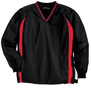 Sport-Tek® JST62 Tipped V-Neck Raglan Wind Shirt