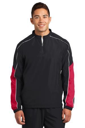 Sport-Tek JST64 Piped Colorblock One Quarter-Zip Wind Shirt
