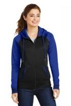Sport-Tek® LST236 - Ladies Sport-Wick® Varsity Fleece Full-Zip Hooded Jacket