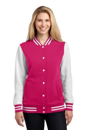 Sport-Tek LST270 Ladies Fleece Letterman Jacket