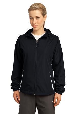 Sport-Tek® LST76 Ladies Colorblock Hooded Jacket