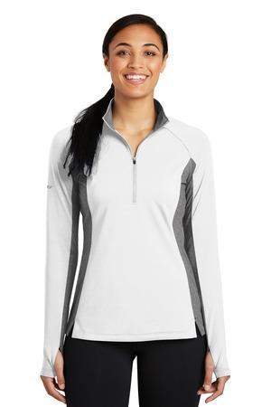 Sport-Tek LST854 - Ladies Sport-Wick® Stretch Contrast 1/2-Zip Pullover