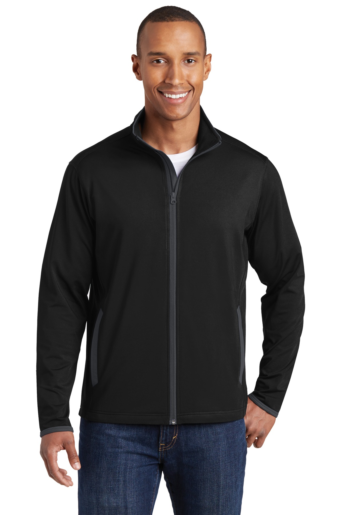 Sport-Tek  Sport-Wick  ST853 - Stretch Contrast Full-Zip Jacket