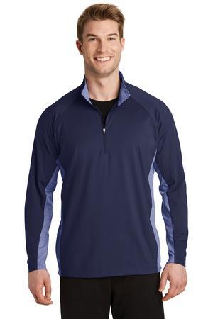 Sport-Tek ST854 - Men's Sport-Wick® Stretch Contrast 1/2-Zip Pullover