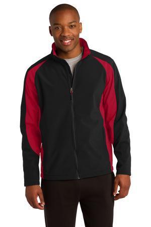 Sport-Tek Colorblock Soft Shell Jacket. ST970
