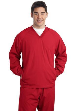 Sport-Tek Tall V-Neck Raglan Wind Shirt. TJST72