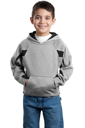 Sport-Tek® Y266 Youth Color-Spliced Pullover Hooded Sweatshirt