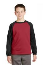 Sport-Tek® YST242 - Youth Sport-Wick® Raglan Colorblock Fleece Crewneck