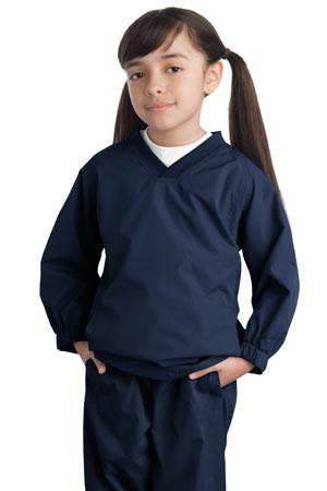 Sport-Tek® YST72 Youth V-Neck Raglan Wind Shirt