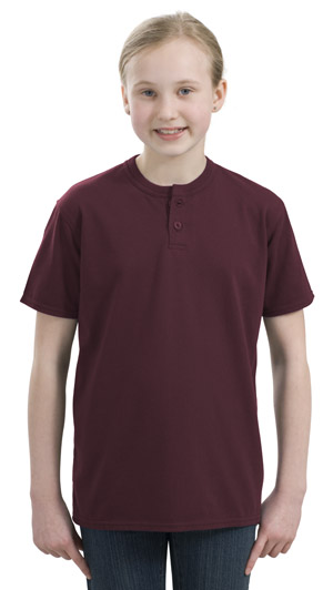 Sport-Tek® YT210 Youth Short Sleeve Henley