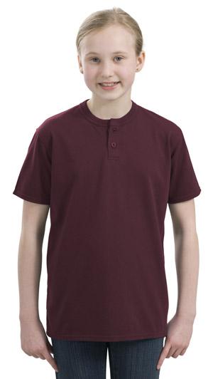 Sport-Tek® YT210 Youth Short Sleeve Henley