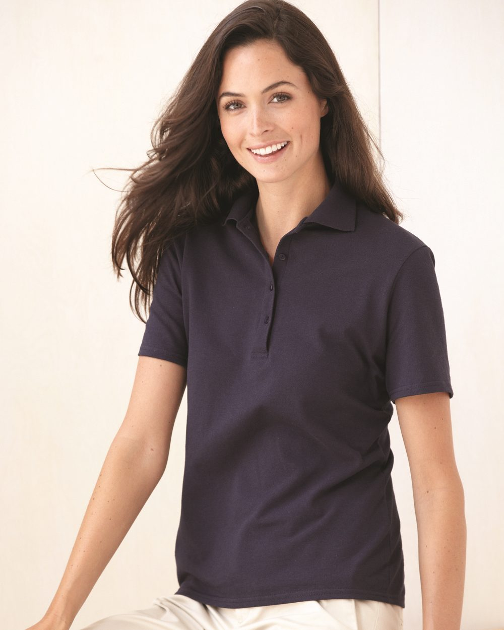 Stedman By Hanes 035X Ladies' Cotton Pique Sport Shirt