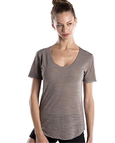 US Blanks US333 - Ladies' Scalloped Hem Short-Sleeve Scoop Neck