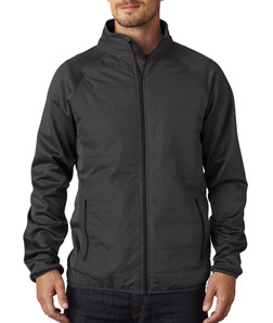 UltraClub 8292 - Adult Cool Dry Quilted Front Full-Zip Lightweight Jacket