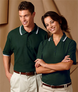 8545 UltraClub Men's Short-Sleeve Whisper Pique Polo with Rib Collar and Cuff Tipping