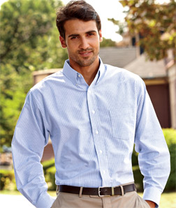 8970 UltraClub Men's Classic Wrinkle-Free Long-Sleeve Oxford