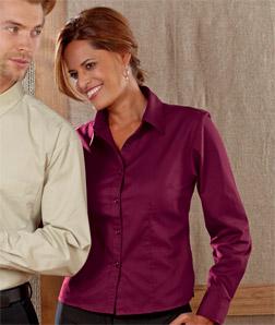 8976 UltraClub Ladies' Whisper Twill Shirt