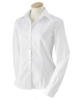 Van Heusen 13V0144  Women's True Wrinkle-Free 80/2's Cotton Pinpoint Oxford