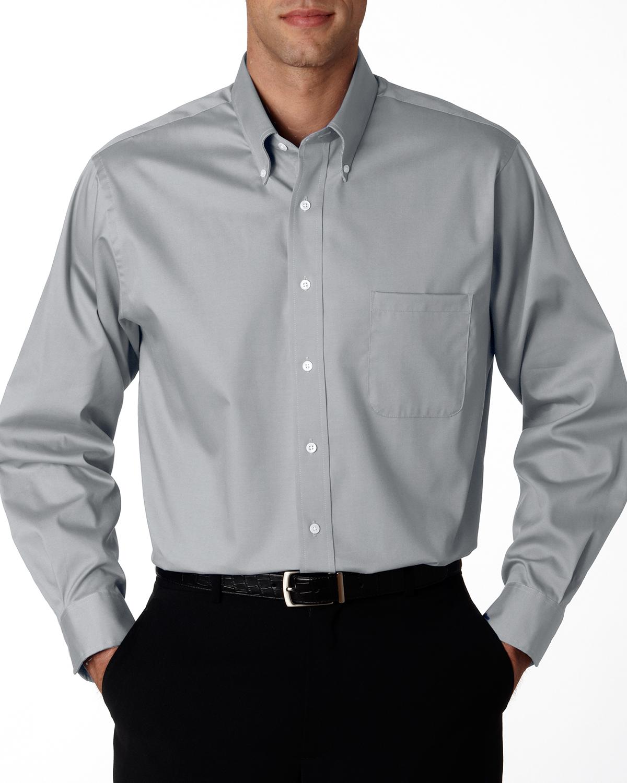 Van Heusen 56900  Men's Wrinkle-Resistant Blended Pinpoint Oxford