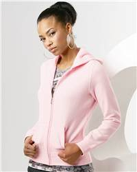 Independent Trading Co. AFX25FZ Juniors' Full-Zip Hooded Sweatshirt