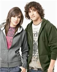 Independent Trading Co. PRM40RAWZ Raw Edge Full-Zip Hooded Sweatshirt